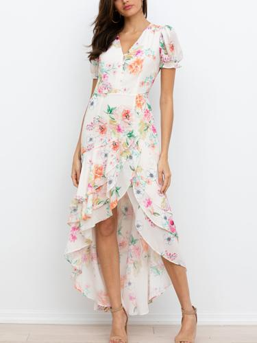 High low maxi dress rented from Armoire Style