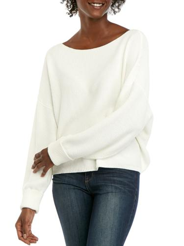 White sweater rented from Armoire Style